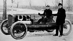 Henry Ford and Barney Oldfield with Old 999, 1902